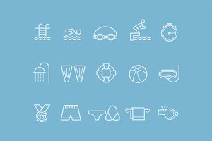 15 Swimming Icons