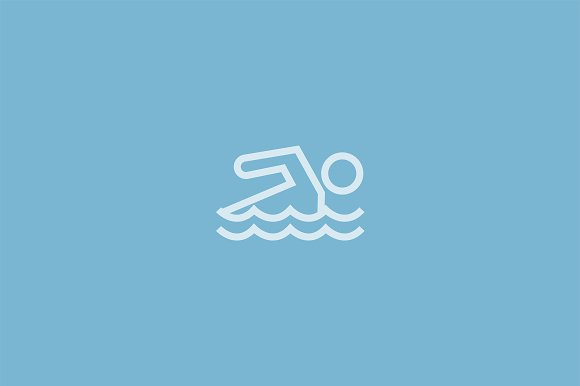 15 Swimming Icons in Graphics - product preview 1