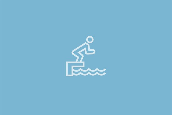 15 Swimming Icons in Graphics - product preview 2