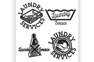 laundry services emblems