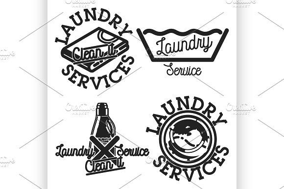 Laundry Services Emblems