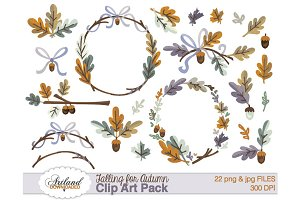 Falling for Autumn Clipart Pack 1
