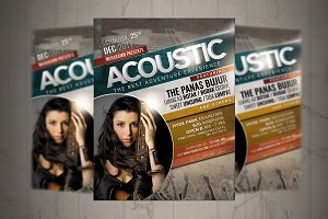 Acoustic Music Event Flyer / Poster