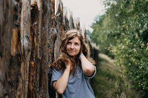 Young Beautiful Girl On The Nature