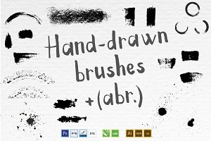 Abstract splash brushes set