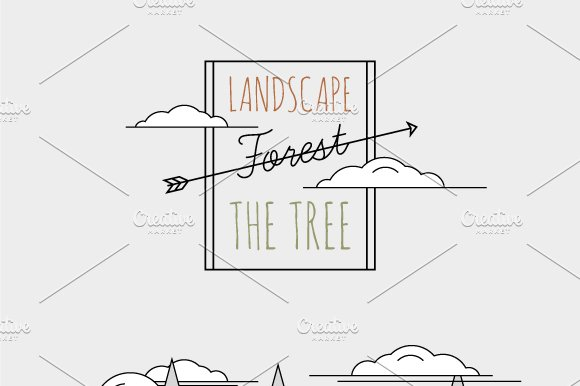vector illustration Forest ~ Illustrations ~ Creative Market