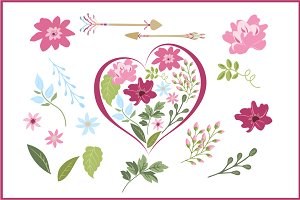 Valentine Flowers & Arrows