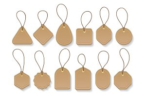 Brown paper blank clothing vintage tags