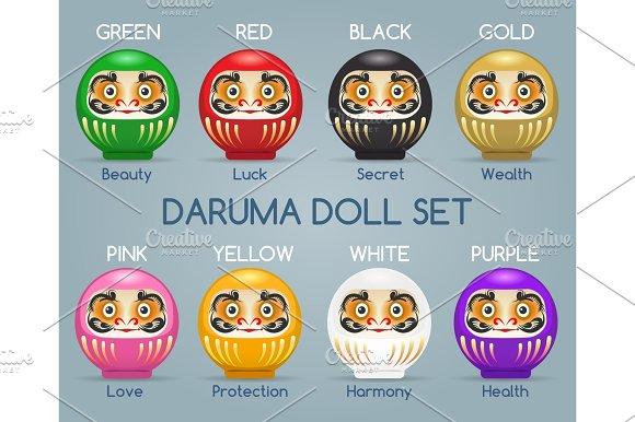 Colored Japan Daruma Monk Dolls