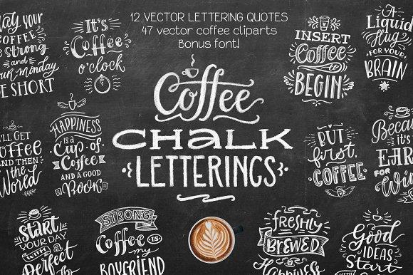 Coffee Chalk Letterings