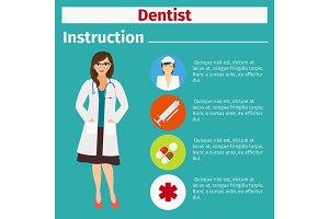Medical equipment instruction for dentist