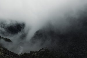 Moody Weather in the Mountains