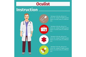 Medical equipment instruction for oculist