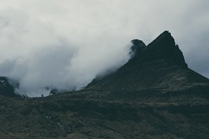 Dark Mountain in the Clouds