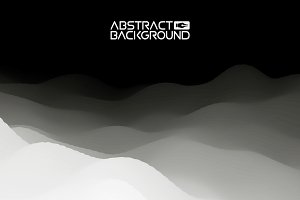 3D landscape Abstract grey Background. Gradient Vector Illustration.Computer Art Design Template. Landscape with Mountain Peaks
