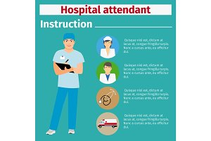Medical equipment manual for hospital attendant