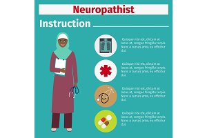 Medical equipment instruction for neuropathist