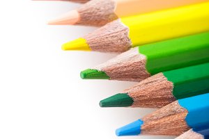 Rainbow color pencils