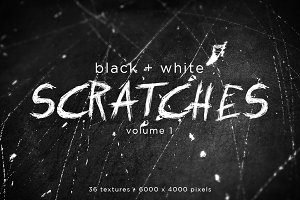 Black and White Scratches Volume 1
