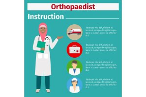 Medical equipment instruction for orthopaedist