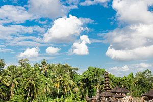 Traditional balinese temple in Ubud, tropical Bali island, Indonesia.
