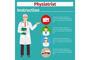 Medical equipment instruction for physiatrist
