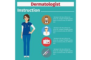 Medical equipment instruction for dermatologist
