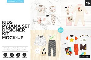 Kids Pyjama Set Designer Kit Mock-up