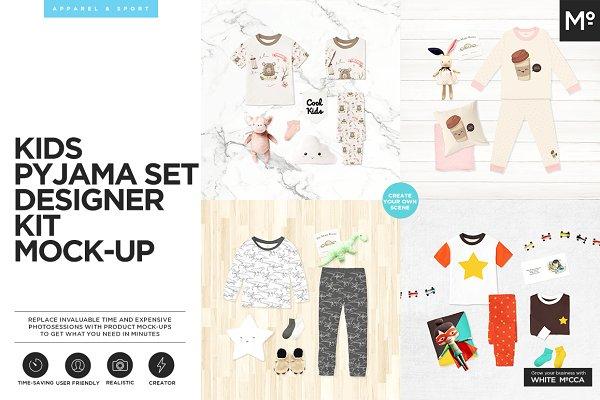 Kids Pyjama Set Designer Kit Mock-u…