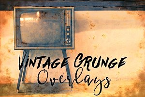 Vintage Grunge Photo Overlays