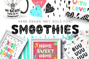 Smoothie - Hand Drawn Inky Font