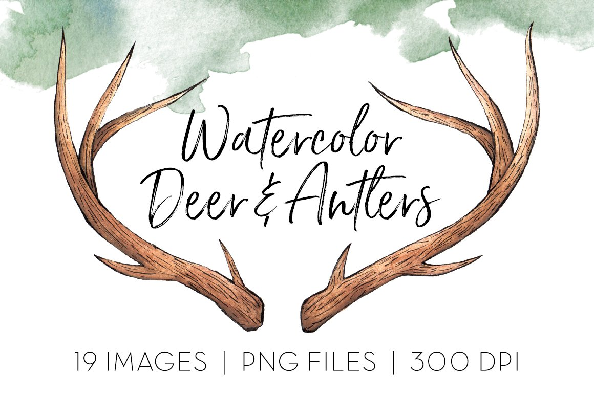 how to draw reindeer antlers