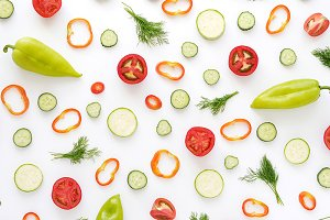 Pattern of vegetables.