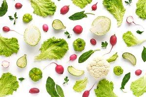 Vegetable food background.