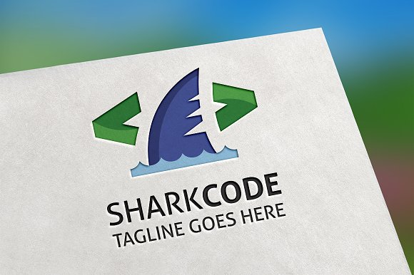 SharkCode Logo in Logo Templates