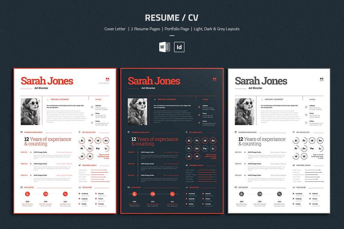 Resume / CV ~ Resume Templates ~ Creative Market
