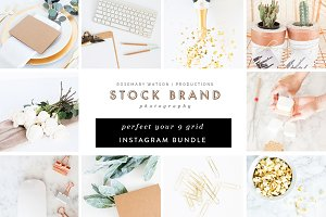 Green & Gold 9 Grid Instagram Bundle