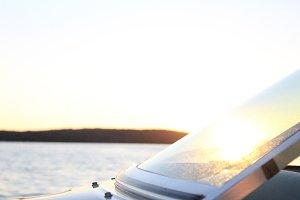 Sun Glinting Off Boat