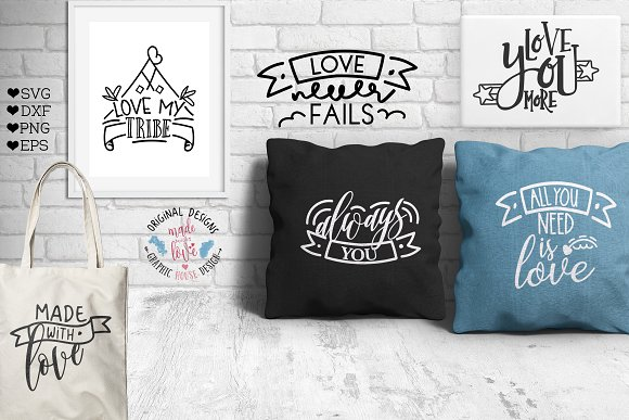 Banners And Love Quotes Bundle Illustrations Creative Market