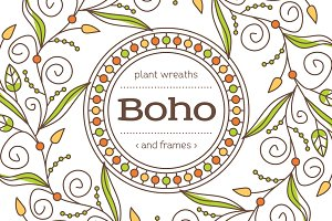 Boho - Frames and Wreaths set