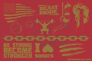 Crossfit Pack 2 | Vector