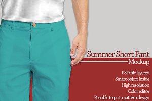 Summer Short Pant Mockup