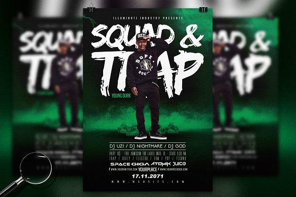Squad & Trap | Urban Flyer Template