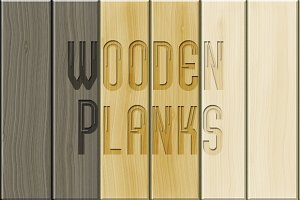 Wooden planks pack