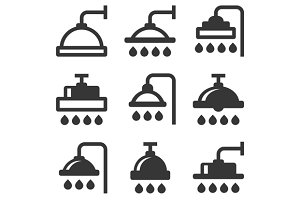 Shower Icon Set