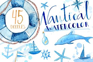 Watercolor Nautical Illustrations