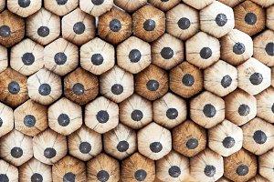 Rows of wooden pencils.