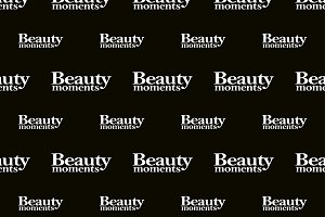 Beauty Moments Phrase Seamless Pattern Design