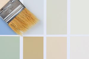 Paint Brush in Corner Color Chart