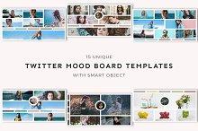 15 Twitter Mood Board Templates by  in Twitter